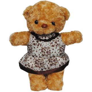 Trimurti Multicolour Imported Teddy Doll with Frock
