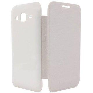 Snaptic Samsung Galaxy E5 Flip Cover (White)