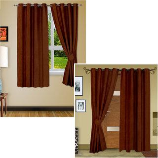 Story@Home Blackout Set Of 2 Door  Window Curtain - Dbk2Wbk2-5004