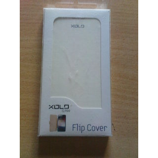 Xolo Q700 Flip Cover White Color available at ShopClues for Rs.158