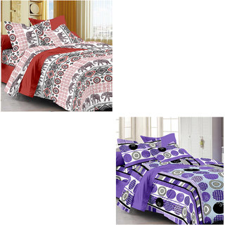 Ahem Homes Candy Cotton Double Bedsheet - 6 Pcs (CN_1260-1262 -AH)