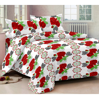 Ahem Homes Magic White Cotton Double Bedsheet  (M1441 -AH)