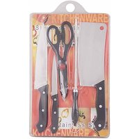 Wooden Chopping Board with Knife set Sharpener and Scissor