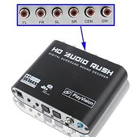 5.1 Audio Gear Dolby Digital Sound Decoder.RCA Output,DTS To Analog 5.1 Converter, Dolby, Xbox