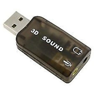 HEAVY DUTY USB 3D SOUND CARD WITH MIC FOR PC LAPTOP  High Quality