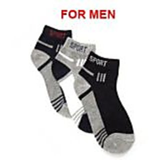 sport Mens Pack Of 3 Sports Terry Comned Cotton Socks