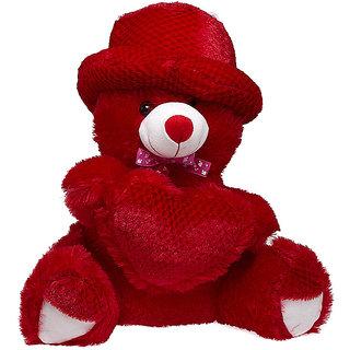 Glitters Red Pine Heart Teddy