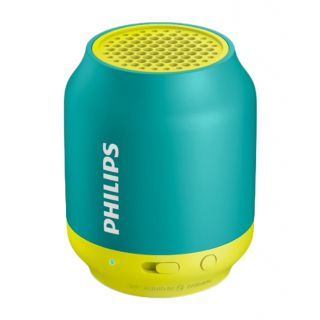 Philips Bt50A/00 Wireless Portable Speaker - Green  Yellow