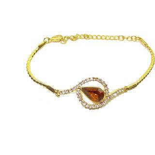 Trisha Jewels 24K Gold Plated With Godsend, Serene Stone Kadaa For Women (WGBR-237)