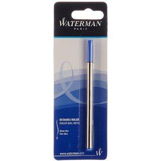 Waterman Roller Ball Pen Refill Blister Pack - Blue, Fine