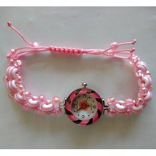 Watches for Women - Beautiful Pink Bracelet Watch