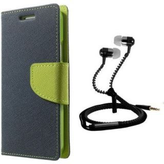 Wallet Style Flip Cover For  Micromax Canvas Nitro A310 With Zipper Earphone