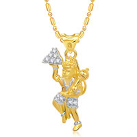 VK Jewels The Jai Hanuman Pendant Gold and Rhodium plated -  P1398G VKP1398G