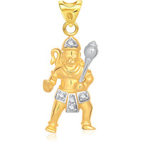 VK Jewels Hanumanta Pendant Gold and Rhodium Plated -  P1435G VKP1435G