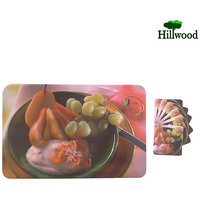 Coaster Mat (Set Of 2) 6 Pcs Coaster With Mat