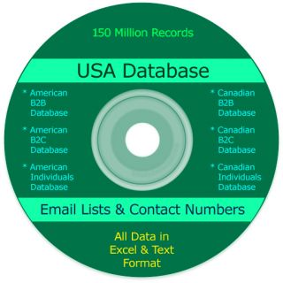 USA business  consumers email list database - Canada b2b, b2c Marketing data