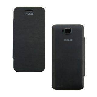 Snaptic Hi Grade Black Flip Cover for Xolo Q700 available at ShopClues for Rs.95