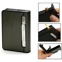 KK 2 In 1 Automatic Cigarette Holder Dispenser Case And Refillabe Gas Lighter