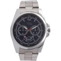 Youth Club Ultimate Chrono Pattern Analog Black Dial Watch-For Men YCS-22BU