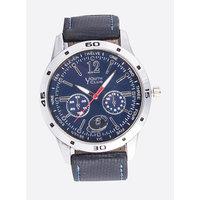 Youth Club Ultimate Chrono Pattern Analog Blue Dial Watch-For Men YCS-28BU