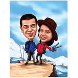Wall Decor Couple Himalaya Caricature