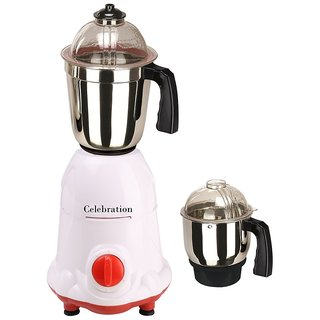 Celebration 600 Watts MG16-4 White and Red 2 Jars Mixer Grinder