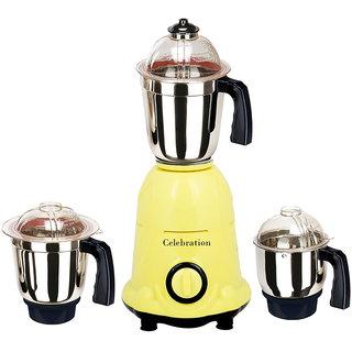 Celebration 600 Watts MG16-7 Yellow 3 Jars Mixer Grinder