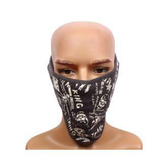 Sushito  Gray Fashion Biker Face Mask JSMFHFM0531