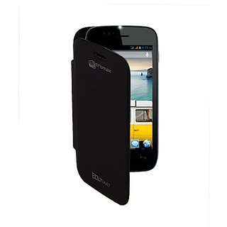 Snaptic Flip Cover For Micromax Bolt A47 Black available at ShopClues for Rs.95
