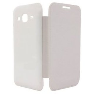 Snaptic Hi Grade White Flip Cover for Micromax Bolt A47 available at ShopClues for Rs.95