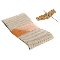 Millionaro Art-Leather Beige Breathable Hand Stitched Steering Cover for Renault Pulse with Needle