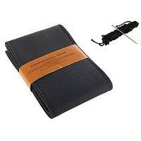 Millionaro Art-Leather Stitching Type Steering Cover for Ashok Leyland Stile-BLACK with Needle