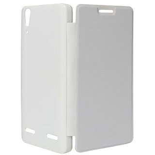 Snaptic Hi Grade White Flip Cover for Micromax Canvas HD A116 available at ShopClues for Rs.115