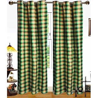 Deepanshi Handloom Door Curtain set of 2 (9x4 feet)