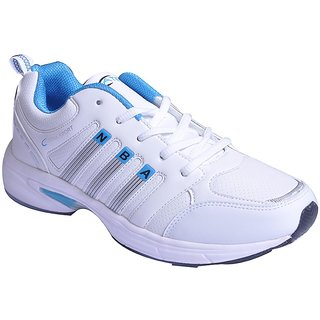 Aterna White Cricket Sports Shoes
