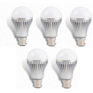 7W SET OF 5 PCS HIGH POWER LED BULB FOR PURE, WHITE, COOL, SAFE LIGHT