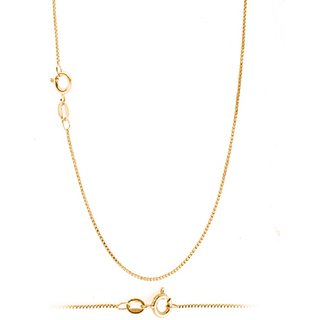 18K Bis Hallmark Pure Yellow Gold Beautiful Sleek Italian Chain