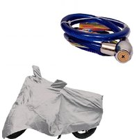 Bull Rider Bike Body Cover with Mirror Pocket for Honda CBR250R (Colour Silver) + Free Helmet Safety Lock Worth Rs 150/