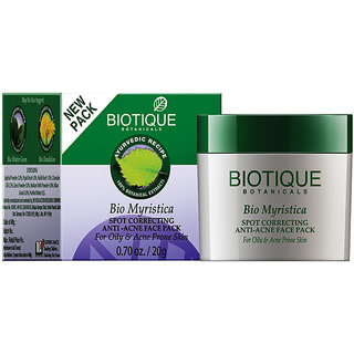Bio Myristica Spot Correcting Anti Acne Face Pack-20 Gm (For Oily &Acne Prone Skin )