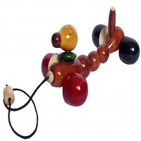 waggy dog moving, wooden toys