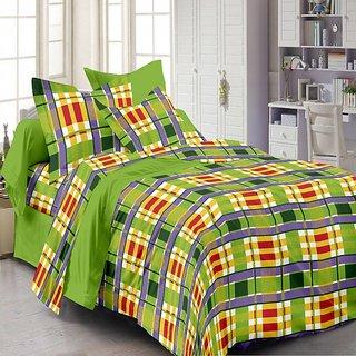 Queen Cotton Premium Green Bedsheet Set(CN1239-QC)