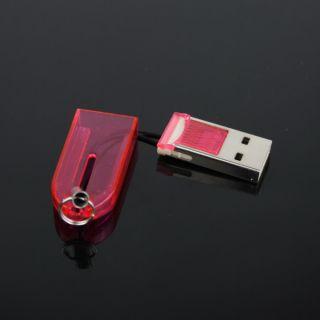 Mini TransFlash Micro SD USB card reader with cover