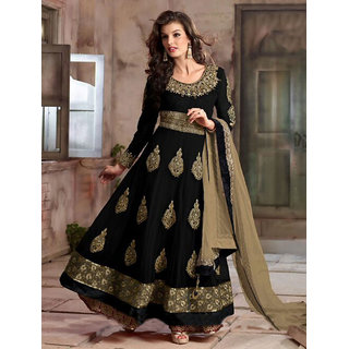 Thankar New Attractive Black Anarkali Suit