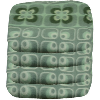 jazz multicolor polyster single fleece blanket ( set of 4 )