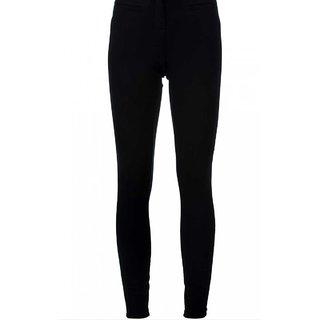Black Cotton Lycra Legging XL