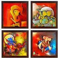 Ray Decor Wall Paintings Set of 4 -SQSET526