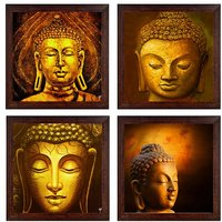 Ray Decor Wall Paintings Set of 4 -SQSET528