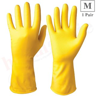 Healthgenie Flocklined House Hold Glove Medium 1 Pair