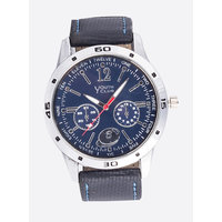 Youth Club Ultimate Chrono Pattern Analog Blue Dial Watch-For Men