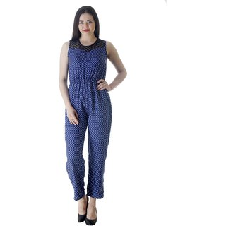 Westrobe Multicolor Crepe Printed Jumpsuits For Women